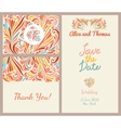 Wedding invitation templates set vector image vector image