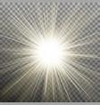 white glowing light burst explosion transparent vector image