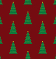 Xmas tree background red vector image vector image