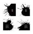 banner set with black ink splashes eps 10 vector image