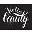Handwritten calligraphic inscription Hello beauty vector image