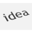 idea text design vector image