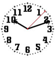 black and white watch simple fifty-two edition vector image