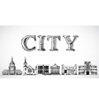 City town background vector image