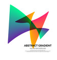 abstract geometric gradient poster background vector image vector image