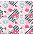 abstract memphis geometric shapes seamless pattern vector image vector image