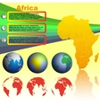 Africa map on yellow background vector image vector image