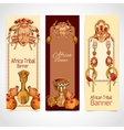 Africa sketch colored banners vertical vector image vector image