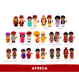africans in national clothes vector image