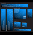banner templates collection with network motive vector image vector image