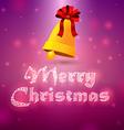Bells merry christmas 2 vector image vector image
