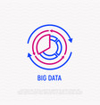 big data thin line icon vector image vector image