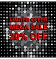 Big sale poster with LIMITED OFFER MEGA SALE 20 vector image