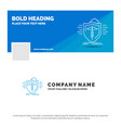 blue business logo template for insurance health vector image