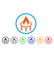 burner nozzle flame rounded icon vector image