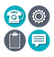 Call center and customer service vector image