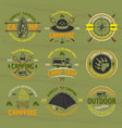 camping outdoor adventure colored emblems vector image vector image