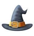 cartoon witch hat halloween children costume kid vector image vector image