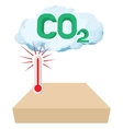CO2 sign in a cloud icon cartoon style vector image vector image