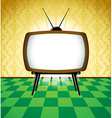 Colorful retro room with TV vector image vector image