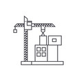 construction crane building thin line icon concept vector image vector image