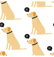 dog print design seamless vector image