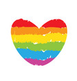 drawing lgbt rainbow heart sign vector image vector image