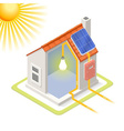Energy Chain 03 Building Isometric vector image vector image