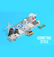 energy factory clip art isometric style vector image vector image