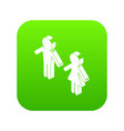 female and male to market icon green vector image