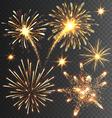 Festive Golden Firework Salute Burst on Black vector image vector image