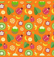 fruity pattern on a colored background vector image vector image