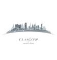 glasgow scotland city skyline silhouette vector image vector image