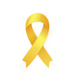 gold ribbon to childhood cancer awareness month vector image vector image