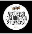 gothic english alphabet set font for tattoo vector image vector image