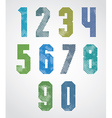 halftone print dots textured numbers