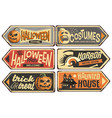 halloween signs collection vector image