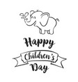 Happy children day celebration hand draw vector image