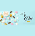 happy easter holiday web banner vector image vector image