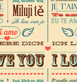 I love you in different languages vector image