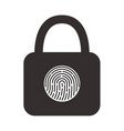 icon a hinged lock with a fingerprint scanner vector image