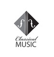 icon of violin vector image vector image