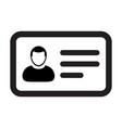 identity card icon male user person profile vector image vector image