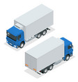 isometric truck delivery lorry mock-up isolated vector image vector image