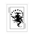 joker card black vector image vector image
