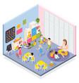 kindergarten room isometric composition vector image vector image