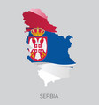 map of serbia vector image vector image