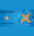 Media hub for applications vector image