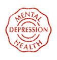 mental disorder depression stamps vector image vector image