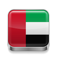 Metal icon of United Arab Emirates vector image vector image